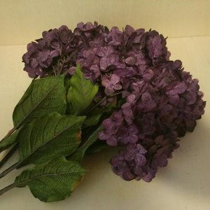 Six Purple Hydrangea Sprays
